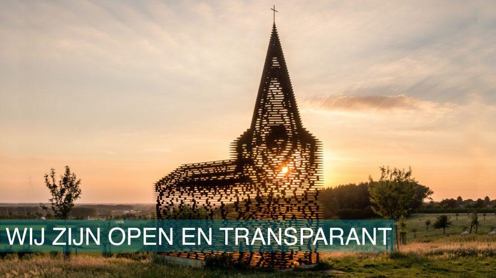 Wij zijn open en transparant Image